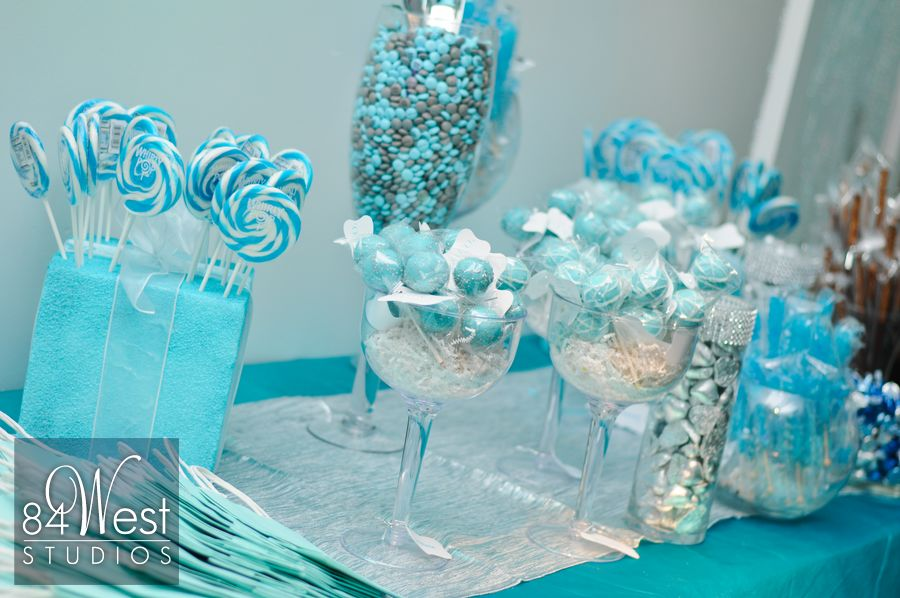 Tiffany blue candy bar Sweet 16 ideas